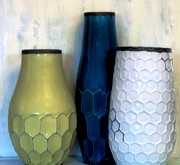 Honeycomb Framed Prints - Honeycomb Vases Framed Print by Marsha Heiken