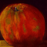 Food And Beverage Pastels Originals - Honeycrisp by David Patterson