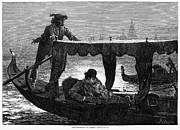 Gondolier Prints - Honeymoon At Venice, 1879 Print by Granger