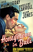 Postv Prints - Honeymoon In Bali, Fred Macmurray Print by Everett