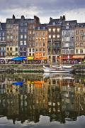 Calvados Framed Prints - Honfleur France Framed Print by Ann Garrett