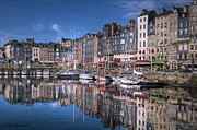 Images Of France Framed Prints - Honfleur Harbour Framed Print by CR  Courson