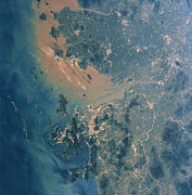 Atlantis Prints - Hong Kong And Guangzhou Seen Print by NASA / Science Source