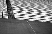 Squares. Linear Metal Prints - Hong Kong Linear Metal Print by Dean Harte