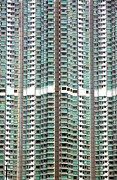 Hong Kong Art - Hong Kong Residential Building by Valentino Visentini