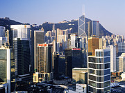 Office Space Metal Prints - Hong Kong Skyline at Sunrise Metal Print by Jeremy Woodhouse