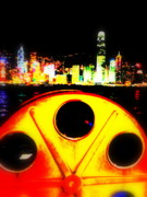 Urban Landscape Art Prints - Hong Kong Skyline Print by Funkpix Photo  Hunter