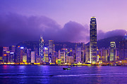 Development Of Life Photos - Hong Kong Skyline, Victoria Harbour by Scott E Barbour