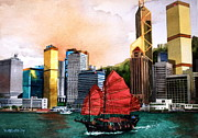 Hong Kong Print by V  Reyes