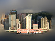 Hong Kong Framed Prints - Hong Kong Waterline Framed Print by Roberto Alamino