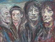 Rolling Stones Art - Honky Tonk Blues by Dan McGibbon