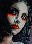 Red Lips Prints - Honky Tonk Woman Print by Paul Lovering