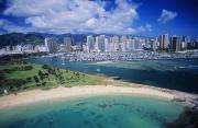 Ala Moana Metal Prints - Honolulu, Oahu Metal Print by Dana Edmunds - Printscapes