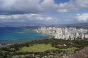 City Buildings Prints - Honolulu Oahu Hawaii Print by Robert Ponzoni
