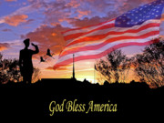 God Bless America Prints - Honor and Pride Print by Adele Moscaritolo