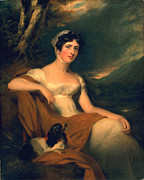 Waist Framed Prints - Honorable Emma Cunliffe later Emma Cunliffe-Offley Framed Print by Thomas Lawrence