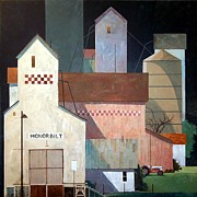 Feed Mill Painting Posters - Honorbilt Poster by Micheal Jones