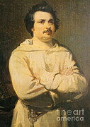 Balzac Photo Posters - Honore De Balkzac, French Author Poster by Photo Researchers