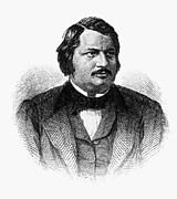 Honore Framed Prints - HONORE de BALZAC (1799-1850) Framed Print by Granger