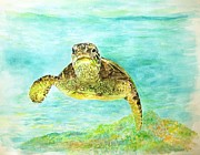 Athletes Painting Originals - Honu boy by Tamara Tavernier