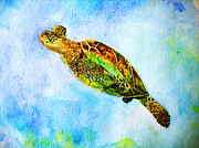 Kauai Artist Paintings - Honu girl by Tamara Tavernier