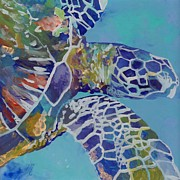 Underwater Metal Prints - Honu Metal Print by Marionette Taboniar