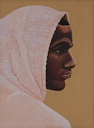 African Art Portrait Paintings - Hood Boy by Kaaria Mucherera