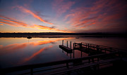 Hood Prints - Hood Canal Sunrise Print by Mike Reid