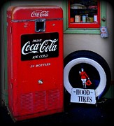 Hood Tires Cocacola Print by Randall Weidner