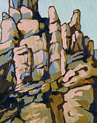 Balance Paintings - Hoodoos 2 by Sandy Tracey