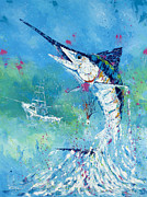 Sportfish Boat Framed Prints - Hook Up Framed Print by Kevin Brant