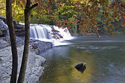 Water Photographs Prints - Hooker Falls in Autumn Print by Rob Travis