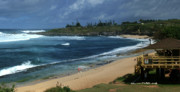 Panoramic Digital Art Originals - Hookipa Beach Maui North Shore Hawaii Panorama by Sharon Mau