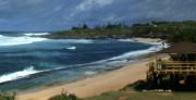Hookipa Beach Park Maui North Shore Hawaii Print by Sharon Mau