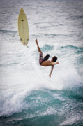 Hookipa Maui Flying Surfer Print by Denis Dore