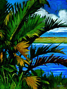 Tropical Trees Paintings - Hoomaluhia 1 by Douglas Simonson