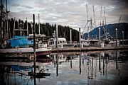 Abstract - Hoonah Harbor by Darcy Michaelchuk