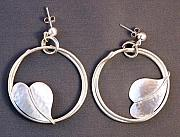 Earrings Jewelry - Hoops and hearts earrings by Mirinda Kossoff