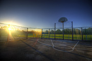 Sports Framed Prints Prints - Hoops Heaven  Print by Yhun Suarez