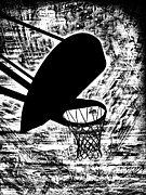 Basketball Digital Art - Hoops Perfection BnW by RJ Aguilar