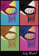 Basketball Digital Art - Hoops Warhol by RJ Aguilar