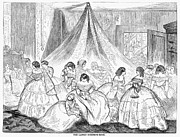 Ball Gown Metal Prints - Hoopskirts, 1858 Metal Print by Granger