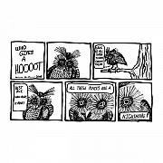 Cartoon Drawings - Hoot Comic by Karl Addison