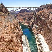 Colorado River Posters - Hoover Dam Bridge Poster by Mike McGlothlen