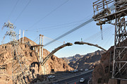 Hoover Dam Prints - Hoover Dam Bypass Highway under Construction Print by Gary Whitton