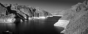 White River Scene Prints - Hoover Dam Reservoir - Architecture on a grand scale Print by Christine Till
