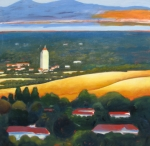 Palo Alto Prints - Hoover Tower from Hills Print by Gary Coleman