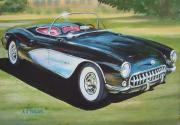 Sportscar Painting Prints - Hop in shut up and hang on Print by Anthony Pooler