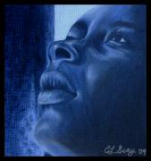 African American Man Drawings Prints - Hope Print by Cindy Gray