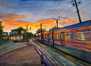 Rail Paintings - Hope Crossing by Athena  Mantle
